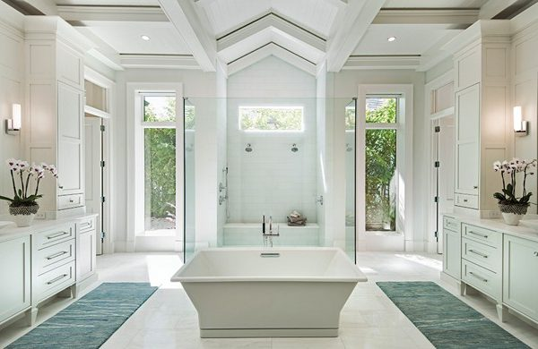 Custom Tray Ceiling in the Bathroom | Knauf-Koenig Group - Naples, Florida General Contractor