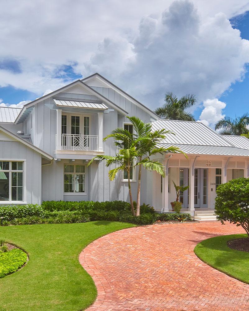 Windward Way Front Elevation | Knauf-Koenig Group - Naples, Florida General Contractor