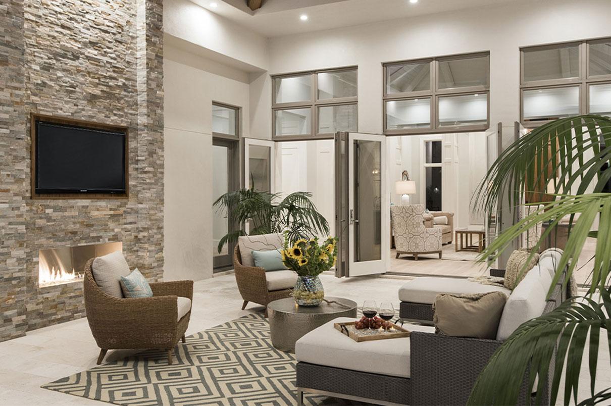 Outdoor Living Area in Naples, FL | Knauf-Koenig Group - Naples, Florida General Contractor